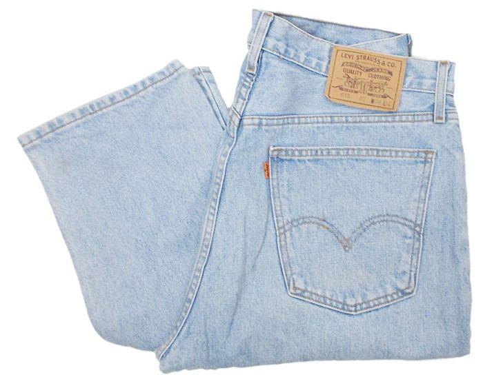 5d93b611 Vintage Levis 615 Jeans Orange Tab 90s Straight Leg Stonewash Light Blue  W35 L34 by BlackcatsvintageUK on Etsy