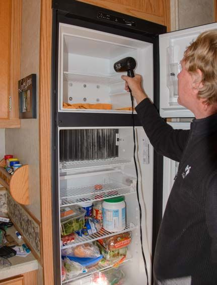 How to defrost an RV refrigerator in 20 minutes! More pics at this link: http://roadslesstraveled.us/how-to-defrost-an-rv-refrigerator-20-minutes/