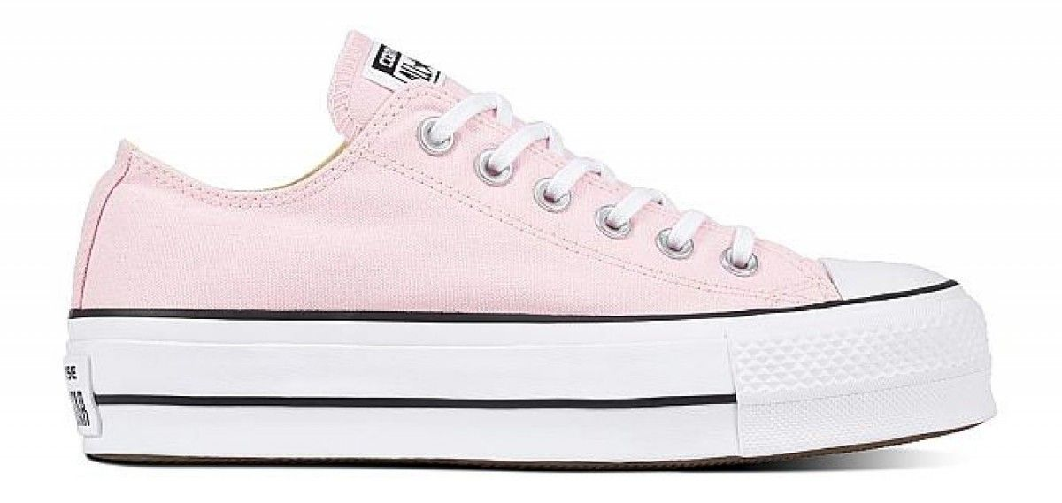 80cd63cb7677 Converse Chuck Taylor All Star Lift Women s Low Top Cherry Blossom  White White