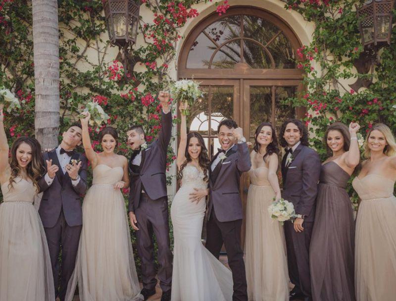 Corbin Bleu And Sasha Clement Wedding Pnina Tornai Wedding Dress