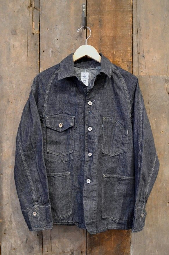 03dd57d498f Post Overalls Engineers Jacket 10oz Japanese Denim Denim Jacket Men