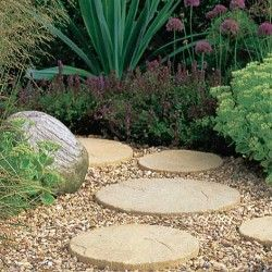 Stonemarket Yorkstone Stepping Stone 300mm See Other Pin For Old English Colour Garden Pavers Garden Stepping Stones Garden Paving