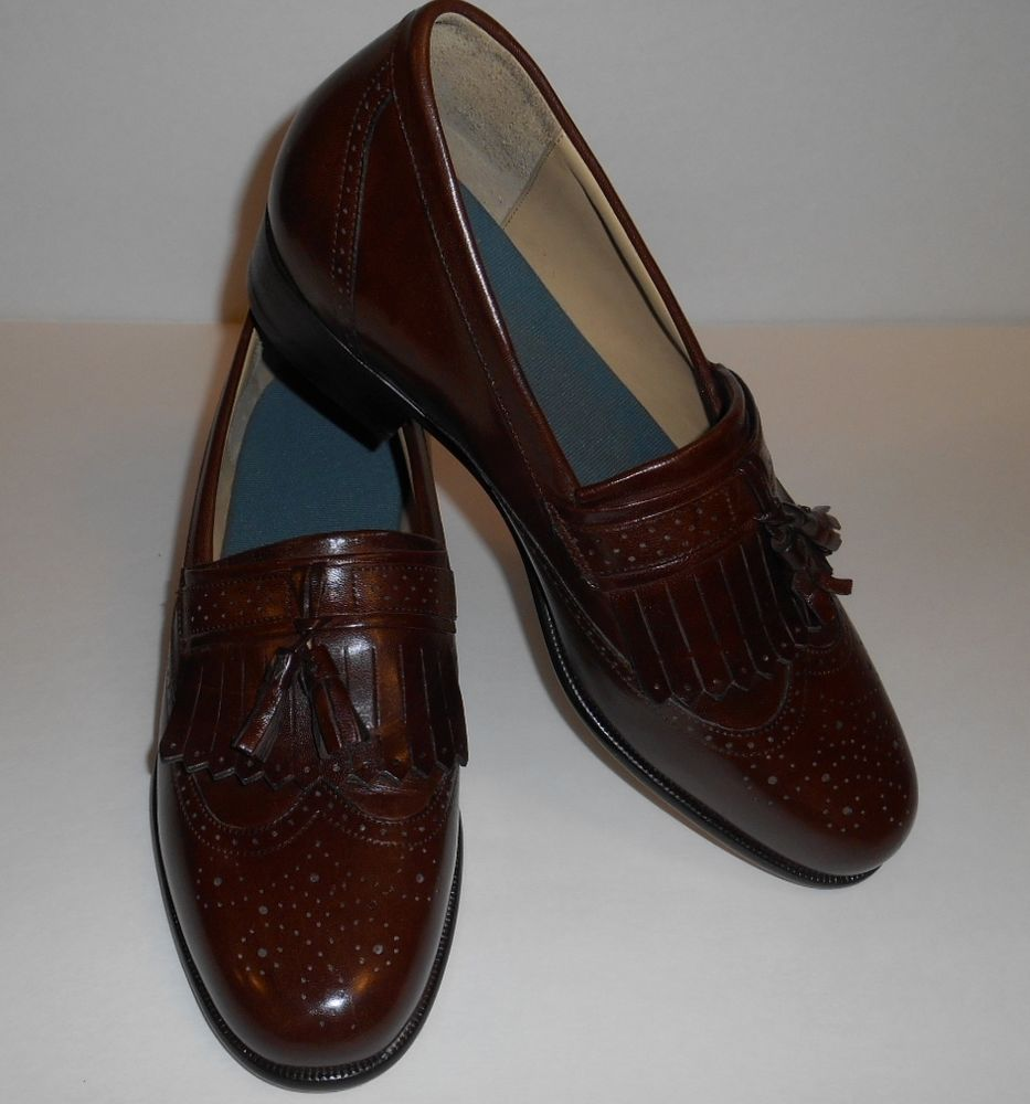 Wingtip Tassle Slip On Leather Italian Vero Cuoio Shoes Never Worn Men's  Size 9 #VeroCuoio
