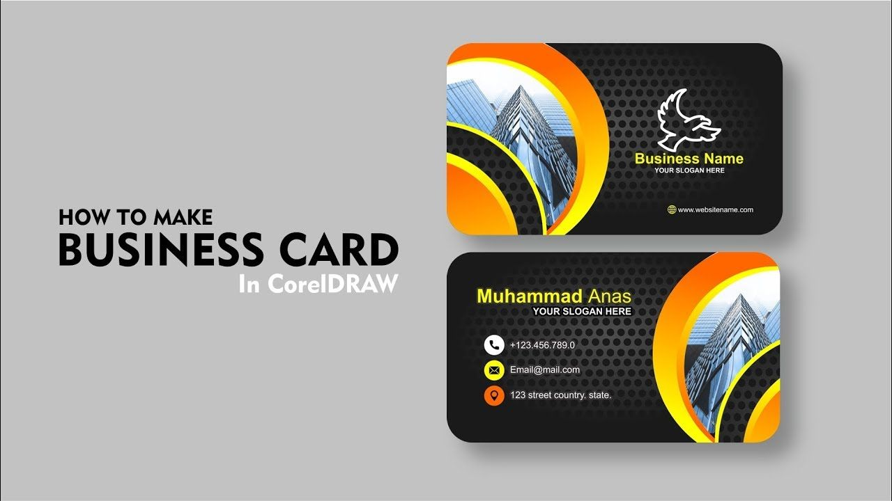 Professional Business Card Design In Coreldraw Tutorial With