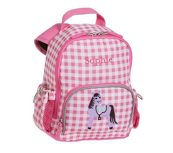 Fairfax Pink Gingham Backpacks Pottery Barn Kids Baby