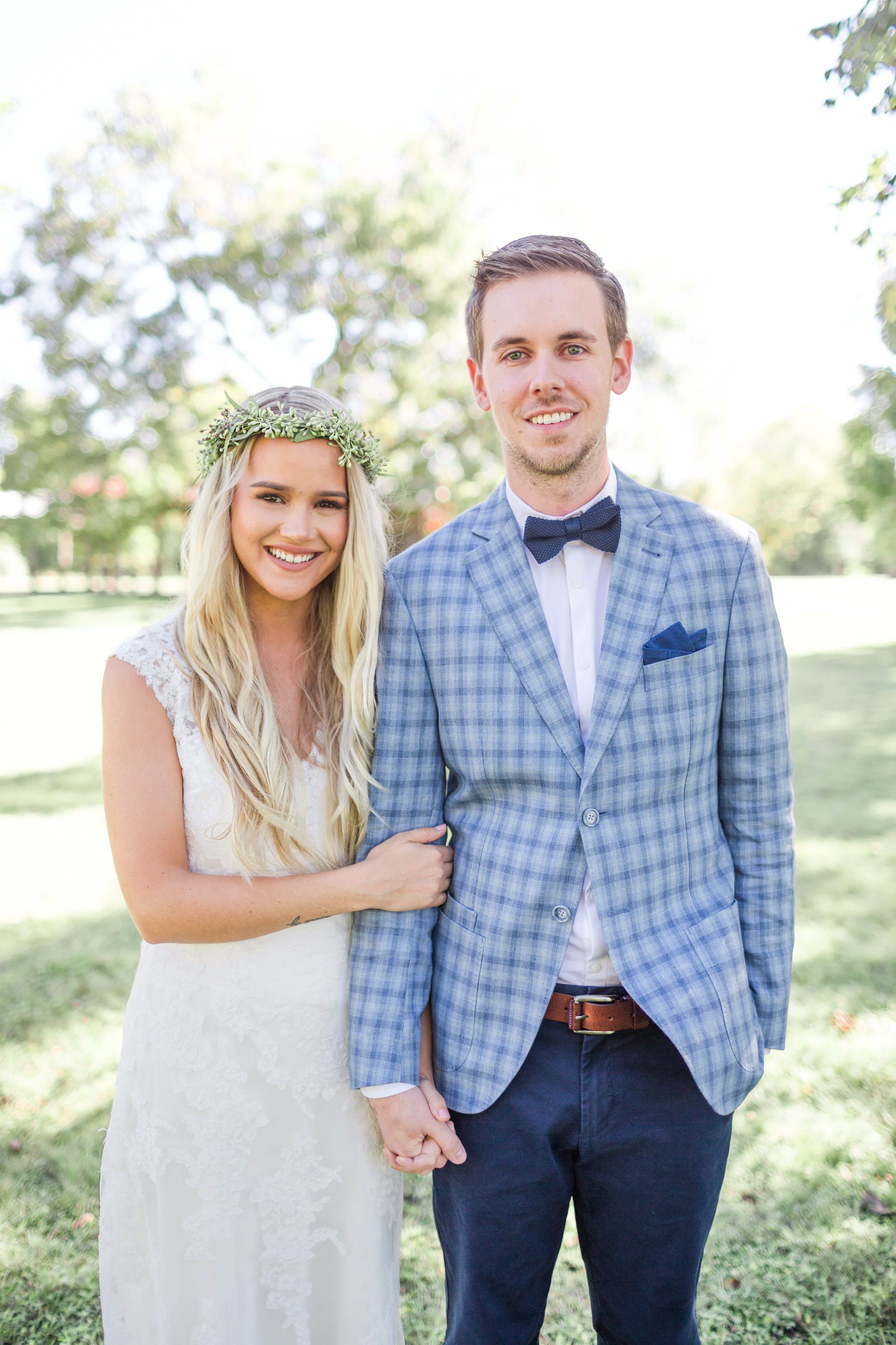 Austin Wedding | Pecan Springs Ranch Austin | Blue Checkered Groom ...