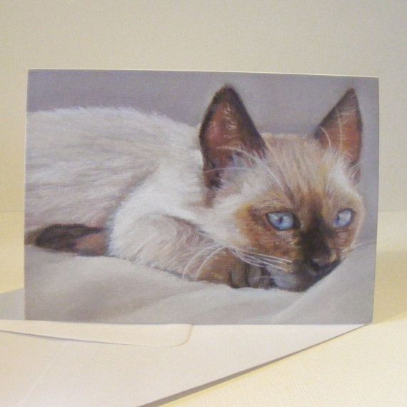 9. Siamese cat greetings card