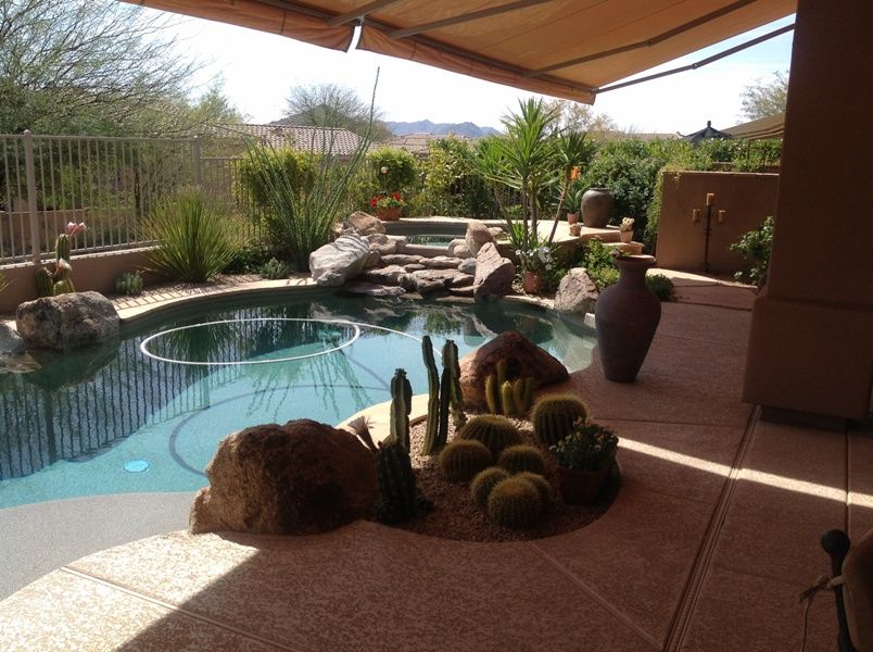 desert landscape ideas with pool    beautiful and packed with
