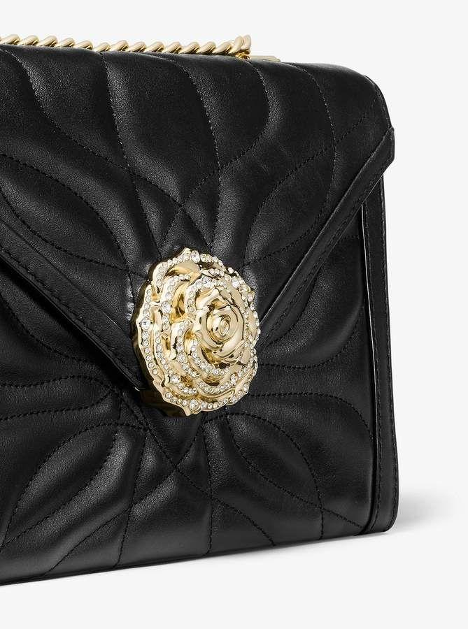 18c72e00bcb2b MICHAEL Michael Kors Whitney Large Petal Quilted Leather Convertible Shoulder  Bag