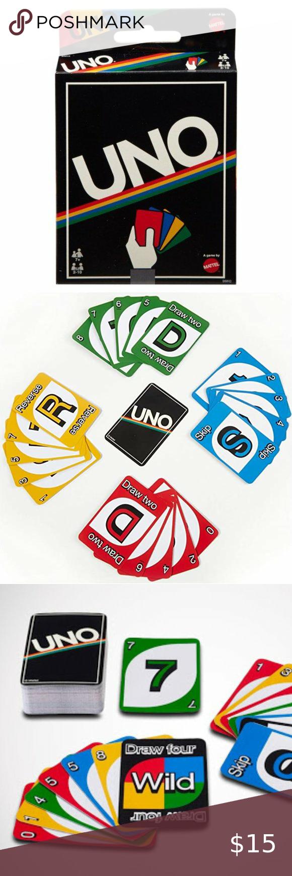 Uno Card Game Retro Edition New Uno Card Game Card Games Retro
