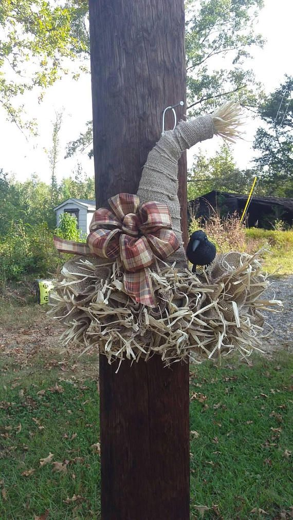 how to make a scarecrow hat out of burlap