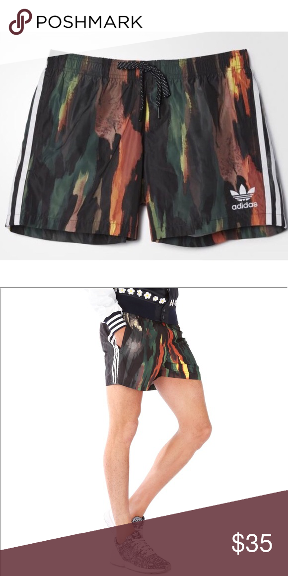331b94c52df46  Adidas  Pharrell Williams Island Tree Swim Trunks ❃ new with tags ❃ Adidas  x