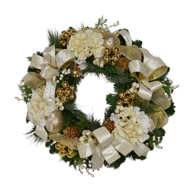 Bianca Gold Ribbon Wreath Wreaths and greenery Pinterest Gold