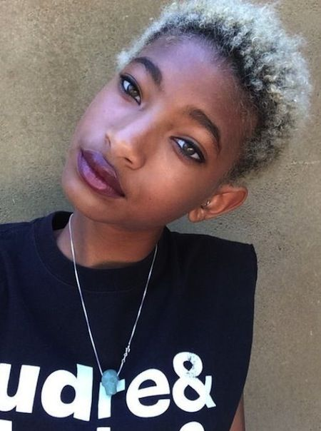 Willow Smith Mini Afro - Blonde Hair With Roots Growing -4460