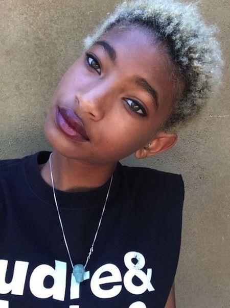willow smith mini afro - blonde