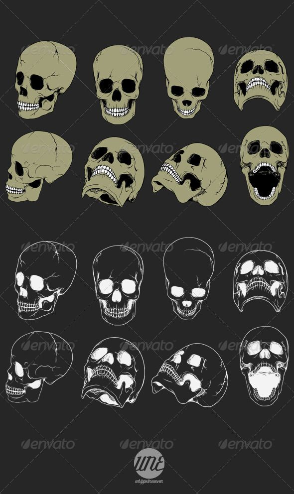 Realistic Graphic DOWNLOAD (.ai, .psd) :: http://vector-graphic.de/pinterest-itmid-1006507765i.html ... Eight Realistic Skulls ... <p>Realistic Skull (8 Images)</p>   <p>100% vector, resizeable, easy colouring.</p> dark, light, realistic, skeleton, skull, tattoo, zombie  ... Realistic Photo Graphic Print Obejct Business Web Elements Illustration Design Templates ... DOWNLOAD :: http://vector-graphic.de/pinterest-itmid-1006507765i.html