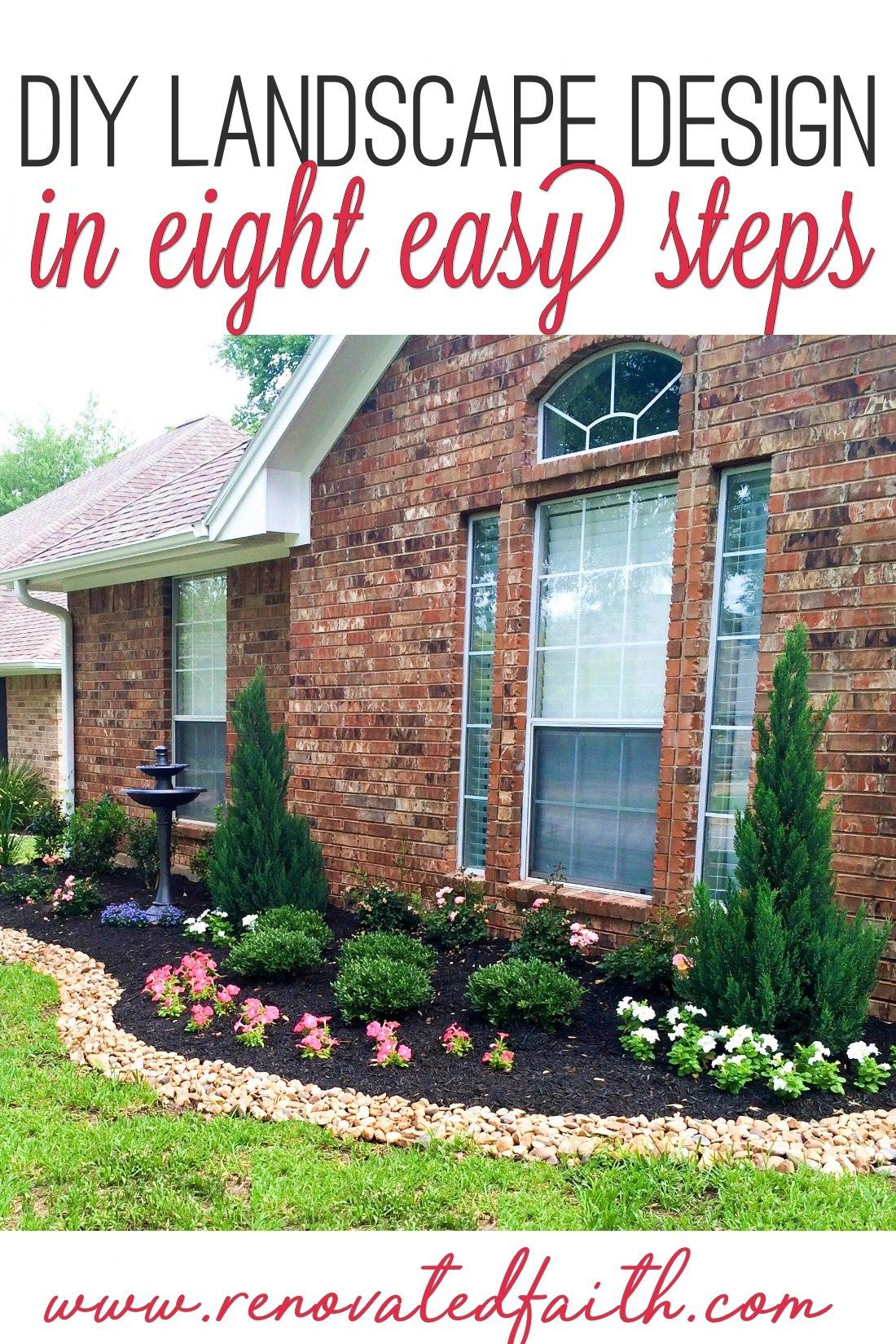 Simple Front Yard Landscaping Ideas On A Budget Diy Landscape Design Front Yard Landscaping Landscape Design Backyard Landscaping