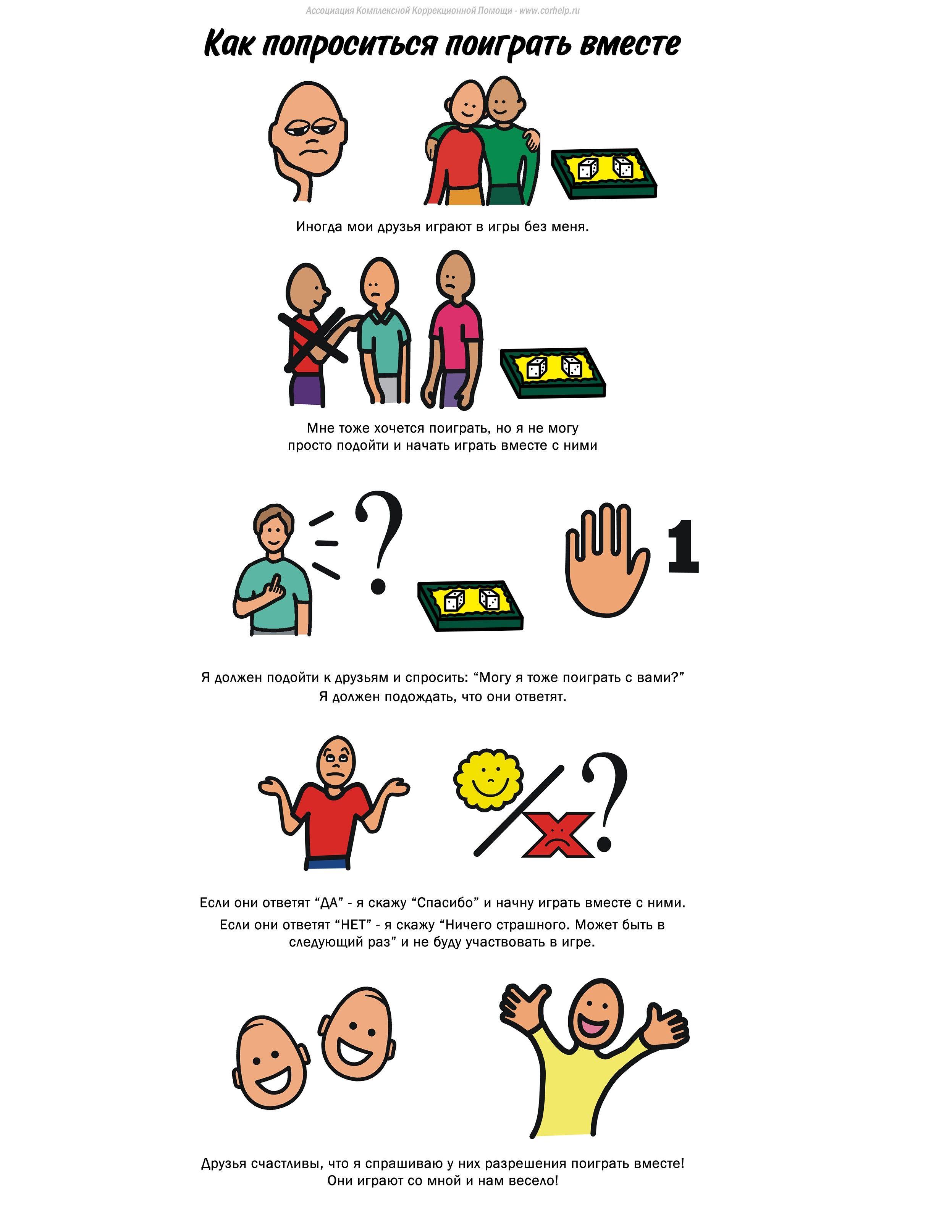 Социальные истории для аутистов в картинках