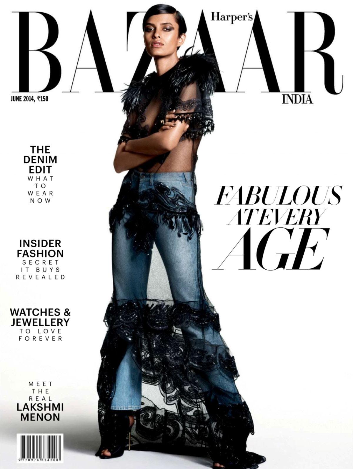 Harper's Bazaar India Junho 2014 | Lakshmi Menon por Tarun Vishwa