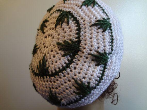 Rasta Hat Pot Leaf Hat Crocheted Bob By