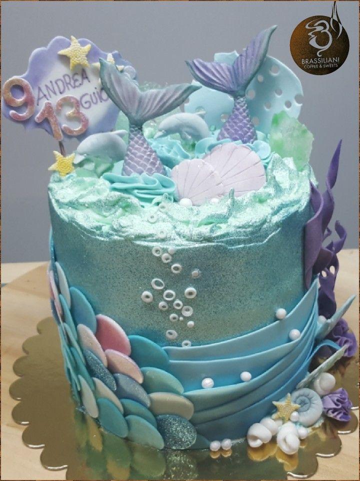 Tarta Sirena Siren Cake Tarta Sirena Buttercream Fondant