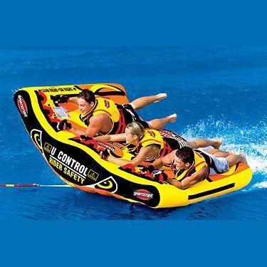 Sportsstuff U Slalom 3 Towable Boat Tube 1 3 Person Lake Fun Boat Tubes Boat