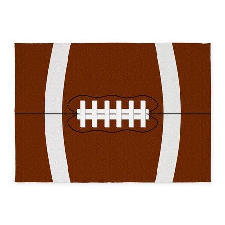Football 5x7'Area Rug on CafePress.com