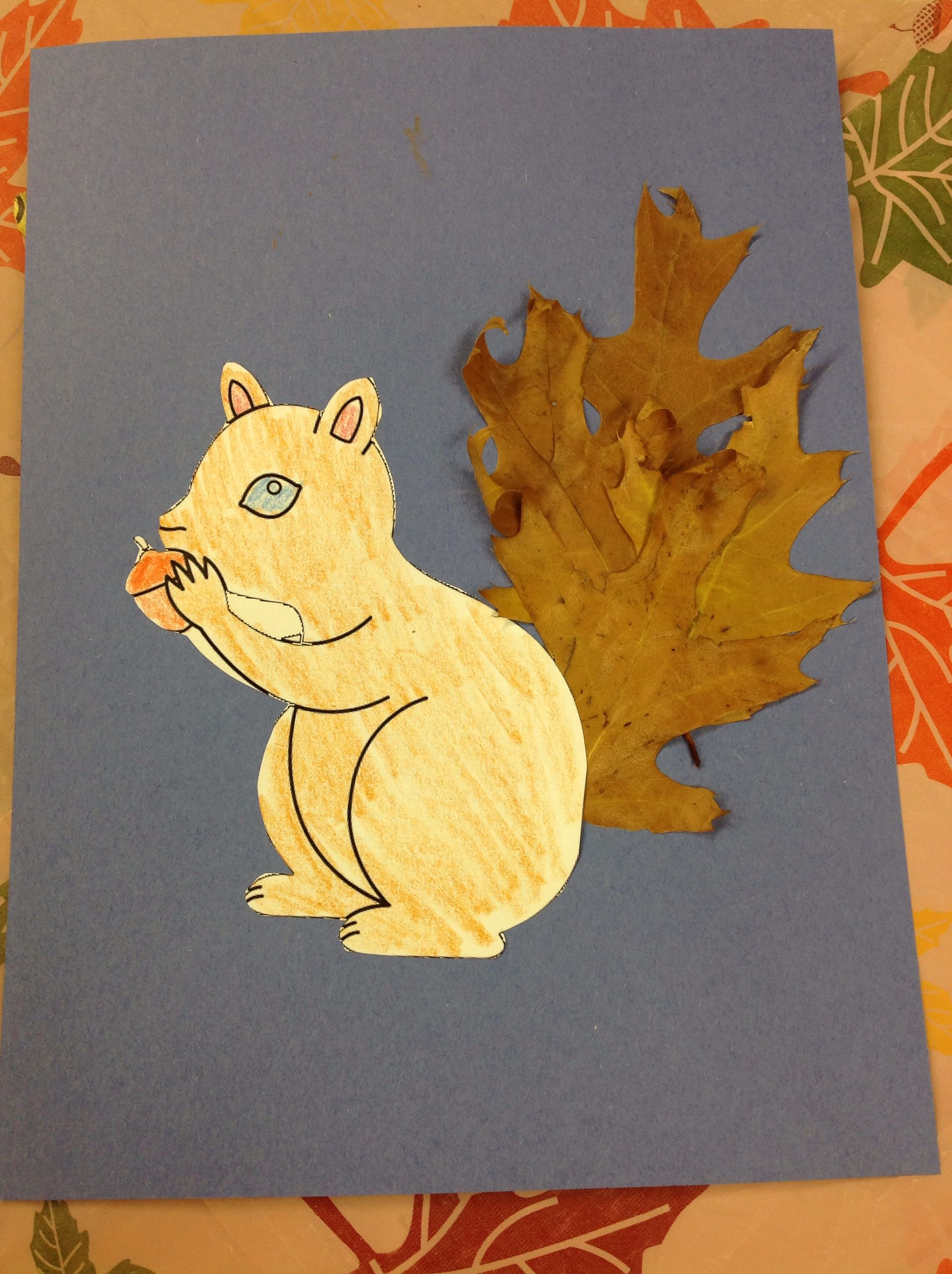 We Gave This Squirrel A Tail Made Of Fall Leaves