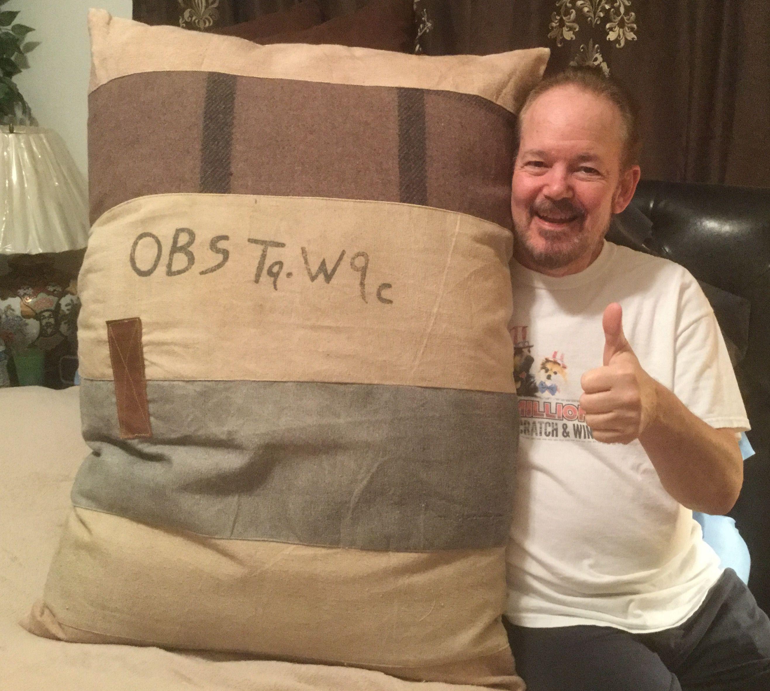 I won this Barrel Shack The Twister Handmade Oversized Pillow worth ...