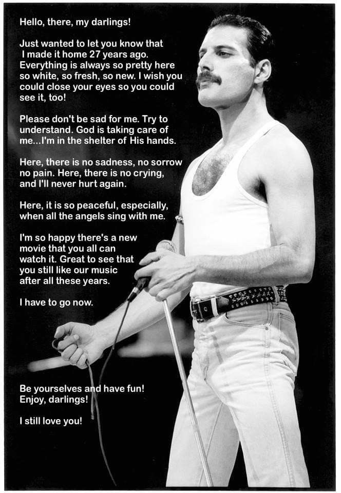Exactly what he would have said!! #freddiemercuryquotes