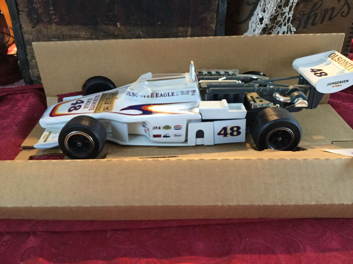 Jim Beam Olsonite Eagle 48 Race Car Bobby Unser Indy Race