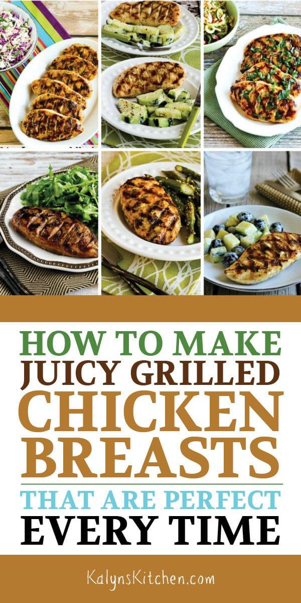 Comment faire des poitrines de poulet grillées juteuses qui sont parfaites à chaque fois - Kalyn's Kitchen
