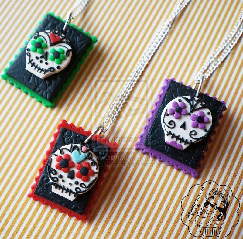 Sugar Skull Trio by colourful-blossom.deviantart.com on @deviantART