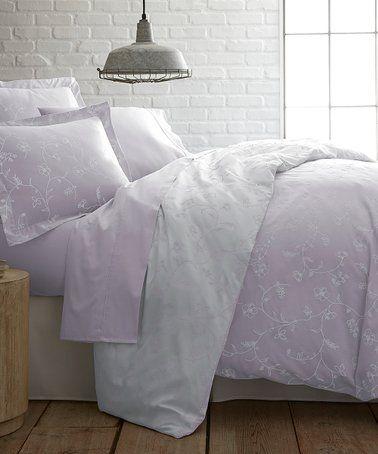 Foggy Lavender Sweetbrier Cotton Duvet Cover Set Duvet