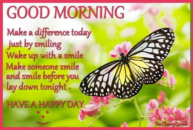 Good Morning Sunshine Quotes: Good Morning And Smile Quote Via My Cheery Corner Page On