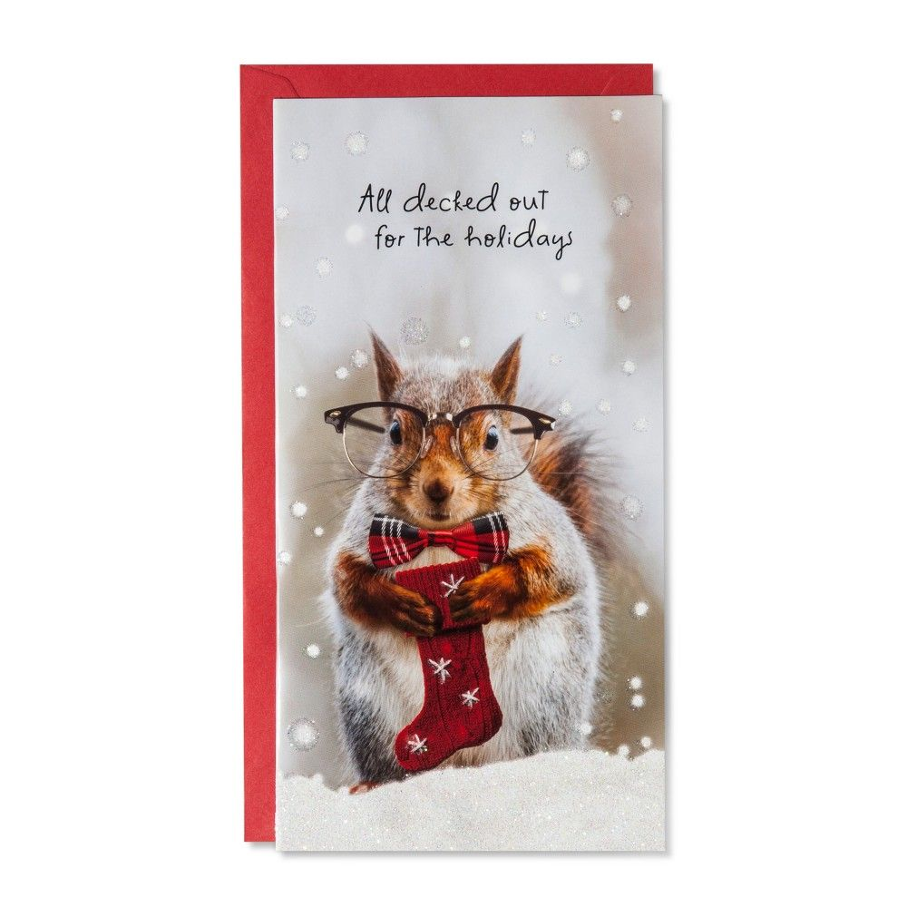 American Greetings 14ct Squirrel with Glasses Holiday Boxed Cards ...