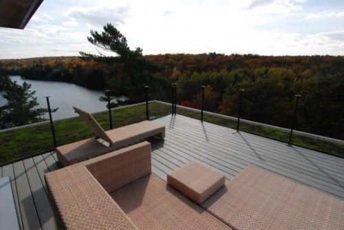 Modern Flat Roof Garden Outdoor Terrace House Flat Roof