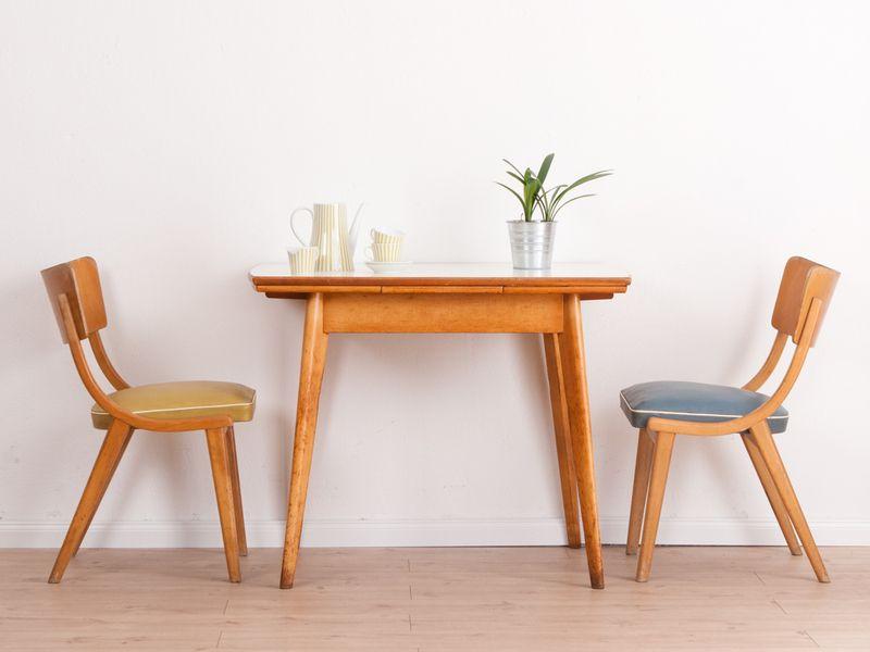 farbschöner küchentisch, tisch, 50er, 60er jahre von mid century, Esszimmer dekoo