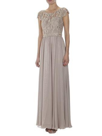 UNIQUE Abendkleid mit Spitze in Weiß online kaufen ...