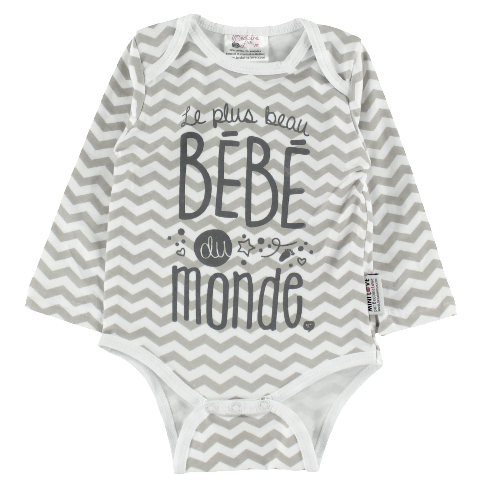 Cache Couche Manches Longues Le Plus Beau Bebe 3 12mois Bedaine Love Clement Onesies Baby Onesies Clothes