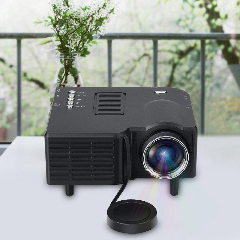 Excelvan GM40 Mini Pico Projector Home Cinema Theater Digital LED LCD Projector VGA/USB/SD/AV/HDMI Multimedia Projecyor