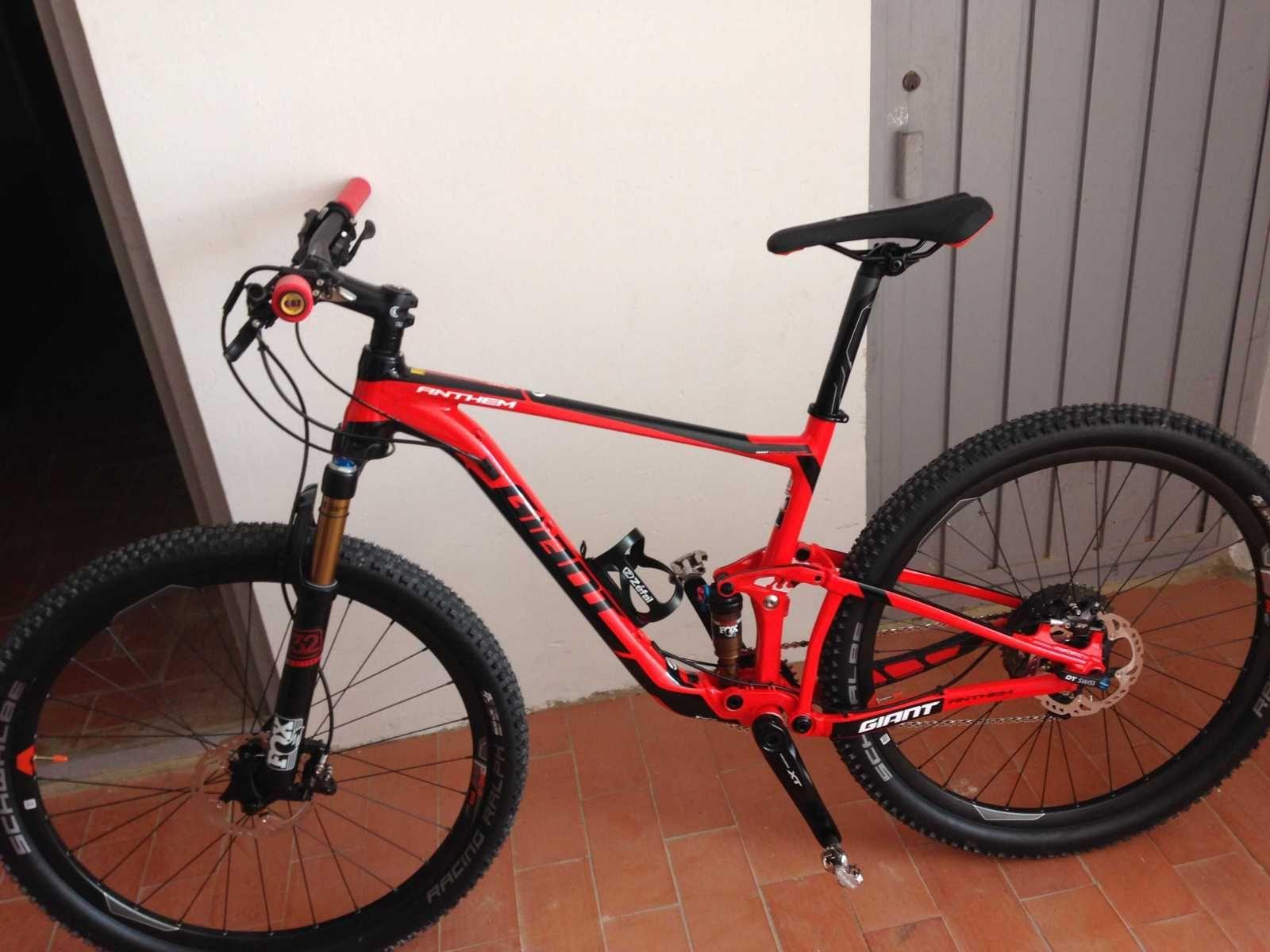 Bicicleta De Montaña Giant Anthem Ref 44471 Talla M Año 2016 Cambio Shimano Deore Xt Cuadro De Alum Bicicletas Bicicletas Mtb Bicicletas De Montaña Giant