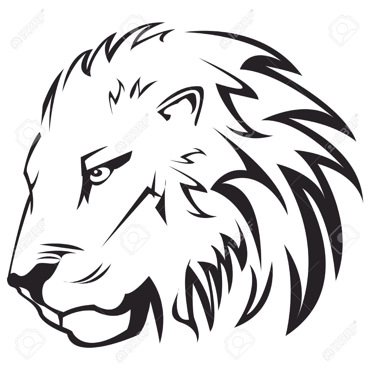 Thinking Lion Lion Head Tattoos Lion Tattoo Lion Tattoo Design 3x3 4x4 5x7 available in the. lion head tattoos lion tattoo lion