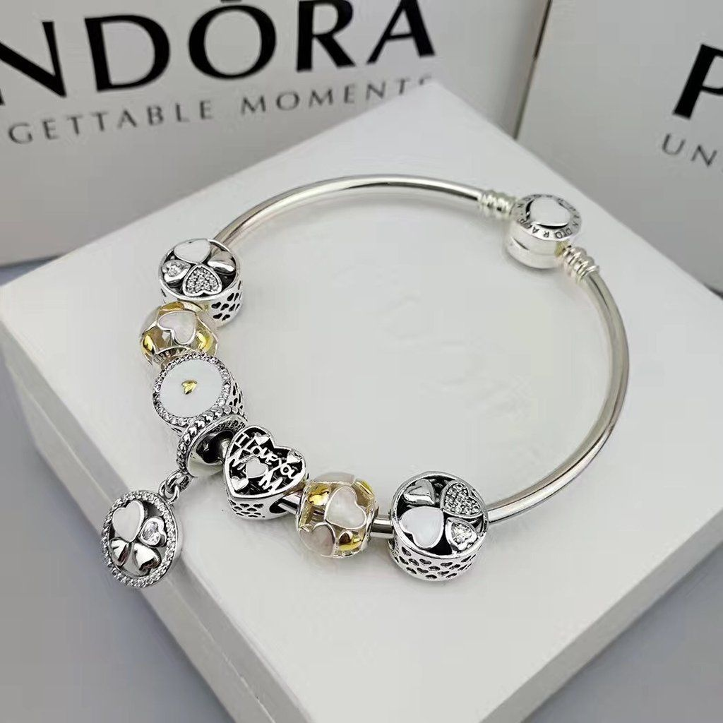 Pandora Charm Bracelet I Love You Mum 7 Pcs Charms