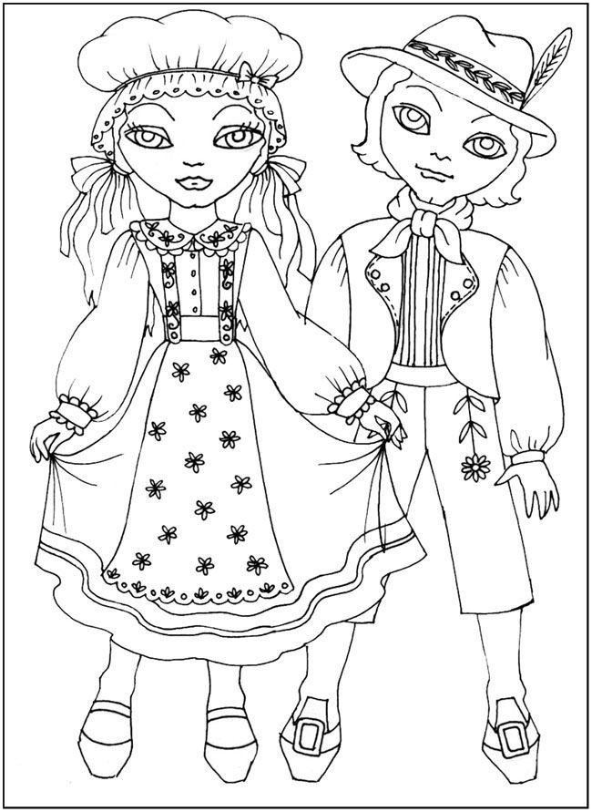 раскраски для детей обучающие Национальные костюмы ...