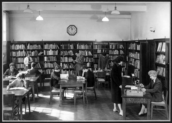 Another look into the library at the London College of Fashion in the 1960s...