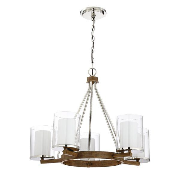 Youll love the rohrbaugh 5 light shaded chandelier at wayfair great deals