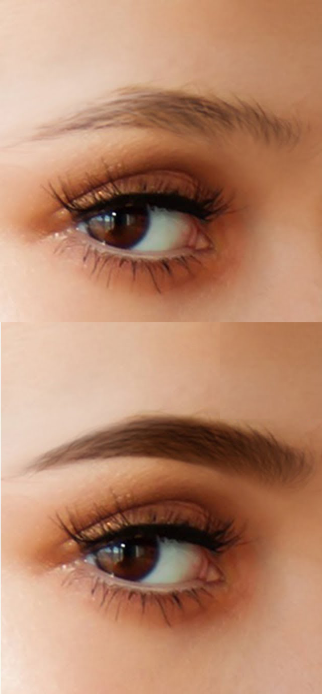 black eyebrows fibers that look like hair #sparseeyebrows
