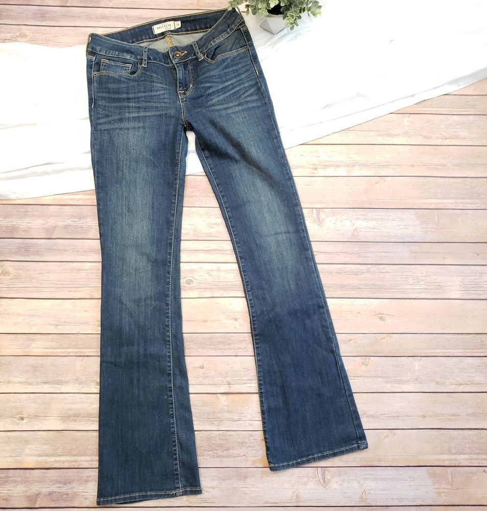 cf9c9ae6494 Bullhead Black Slim Boot Jeans Size 7R Medium Wash Denim Stretch Juniors # Bullhead #BootCutSlim