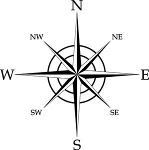 Compass Rose Coloring Page Cooloringcom compass rose